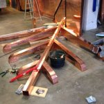 Struttura a mensole per tetto in rame